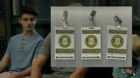 The Mick TV-Show Screen Used Braddock Prison Prop Lot 3 Visitor Ids Ep 203