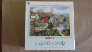 Ceaco Puzzle, Village at the Bay (3339-10) by LindaStocks, 1000 Pieces Complete