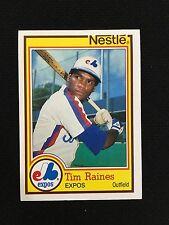 "TIM RAINES ODD BALL ""NESTLE"" TOPPS 1984 MONTREAL EXPOS BASEBALL CARD"