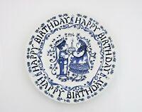 Happy Birthday Plate Norma Sherman Vintage Crownford China Company