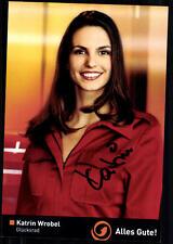 Katrin Wrobel Glücksrad Autogrammkarte Original Signiert ## BC 24286