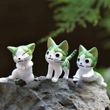 6PCS cat Micro Miniature Dollhouse toys Garden art figurine Fairy DIY Decor Cute