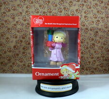 Precious Moments Girl holding presents Christmas Tree Ornament New