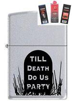 Zippo 3191 till death do us party Lighter + FUEL FLINT & WICK GIFT SET