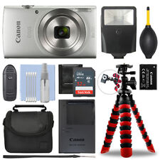 Canon IXUS 185 / ELPH 180 Digital Camera Silver + 32GB Deluxe Accessory Package