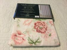 LAURA ASHLEY - Shower Curtain 100% Cotton - Floral Cottage Shabby Chic NEW