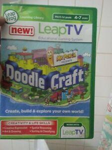 LeapFrog LeapTV Doodlecraft Mr. Pencil; Educational, Active Video complete testd