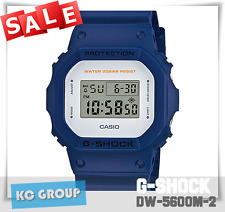 BRAND NEW WITH TAG G-Shock 200 BLUE X WHITE, Resin Strap, DW5600M-2