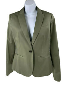 Banana Republic Blazer Women's Size 4 Cotton Spandex Green Jacket Lined NWT$158