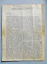 1937 GEORGE GROSZ LETTER SIGNED HANDWRITTEN & TYPED Life, Art, Spain's Civil War