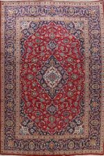 Semi-Antique Traditional Floral Ardakan Area Rug Hand-Knotted Red Carpet 8'x11'
