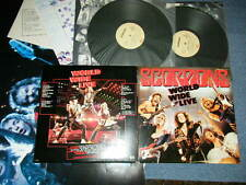 SCORPIONS Japan 1985 NM 2-LP +Poster WORLD WIDE LIVE