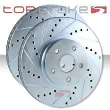 REAR Performance Cross Drilled Slotted Brake Disc Rotors TB54125