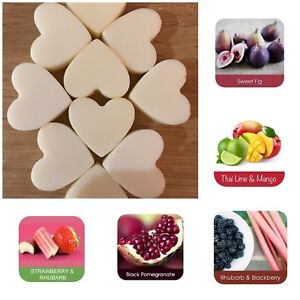 10 x Highly scented Soy Wax Melts - Handmade - Natural Wax - Vegan - 90 Scents