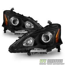 For 2013-2015 Altima 4Dr Sedan Black Projector Headlights Headlamps Left+Right