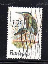 BARBADOS #500  1979  12c  GREEN GAULINS  F-VF  USED