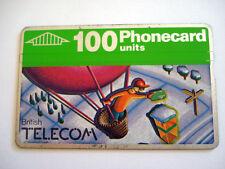 PHONECARD TELECARTE BRITISH TELECOM MONTGOLFIERE