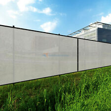 gray 240GSM 1FT Privacy Screen Fence Commercial Windscreen Mesh Cover