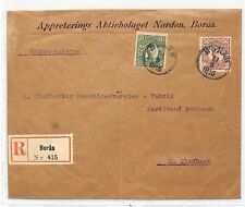 BH120 1915 SWEDEN *Borås* Late Use Dotted CDS Cover GERMANY Mönchengladbach