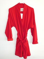 Womens Medium Lipstick Red UGG Australia Braelyn Fleece Short Wrap Robe 0541675ad