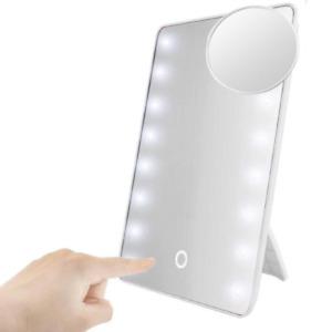 Kosmetikspiegel LED Vergrößerung 10-fach Schminkspiegel Rasierspiegel Helligkeit