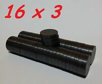 10 MAGNETI FERRITE 16X3 MM CALAMITA POTENTE FIMO CERAMICA MAGNETE CALAMITE