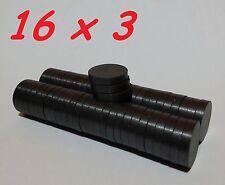 50 MAGNETI FERRITE 16X3 MM CALAMITA POTENTE FIMO CERAMICA MAGNETE CALAMITE