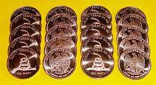 20 Coins • DON'T TREAD ON ME • 1 oz each .999 Copper Bullion 5-10-100