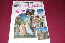 Simplicity Vintage Pattern # 8797 - Fashion Doll Barbie & Ken Clothes -9 Outfits