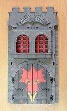 Playmobil Moyen Age piéce détachée grande devanture gris porte + grille chateau