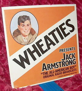 LP Factory Sealed OTR Wheaties Presents JACK ARMSTRONG The All American Boy