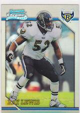RAY LEWIS Refractor RARE ROOKIE CARD Baltimore Ravens BOWMAN CHROME Football RC!