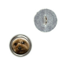 Yorkshire Terrier Yorkie Dog - Metal Craft Sewing Novelty Buttons Set of 4