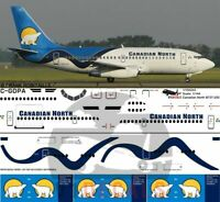 V1 Decals Boeing 737-200 Canadian North for 1/144 Airfix Model Airplane kit