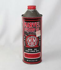 Vintage Marvel Mystery Oil Tin Can - 16 fl oz - FULL CAN - Advertising - USA