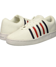 K-Swiss Men's Classic 88 Knit Sneaker | White/Navy/red | 7 M Us