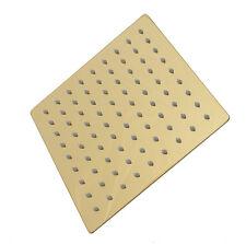 20cm Regendusche Regenbrause Brause Duschkopf Duscharmatur Kopfbrause (Gold-1)