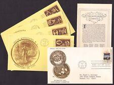Pilgrims 350th Sc# 1420 FDC + South Kingstown 250th/Colonial Craftsmen #1456-59