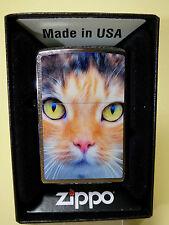 """Zippo """"CAT  FACE""""  - super lieb  -  NEU & ovp - #653"""