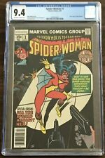 CGC 9.4 SPIDER-WOMAN #1 New Origin Jessica Drew OW/W Pages Marvel Comics 1978
