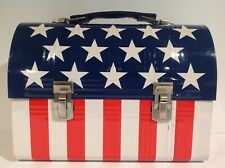 1980s MEIJI BEAT BOX STARS AND STRIPES METAL DOME LUNCH BOX FROM JAPAN RARE