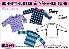 pdf.Schnittmuster und Nähanleitung Baby Longsleeve Gr.:56-92