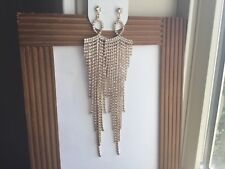 ALDO GOLD TONE UBER GLAM DANGLING BLING  EARRINGS