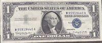 USA 1 Dollar 1957 B Silver Certificate One Banknote Schein Gute Erhaltung #21968