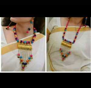 Indian Ethnic Traditional Afghani Multicolor Choker Necklace  Oxidized Jewelry