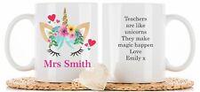 Personalised Teacher gift mug coaster school end of term thank you nursery leave