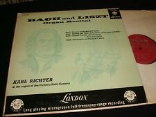 BACH°LISZT ORGAN RECITAL°<>KARL RICHTER<>Lp Vinyl~UK Pressing~LONDON CM 9124