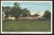 Postcard OCEAN SPRINGS MS  1st Tee & Golf Course Country Club House 1920's