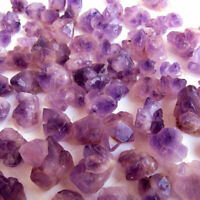 1/2LB Natural Skeletal Purple Amethyst Crystal Cluster Healing Reiki Stone Lot