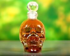 Bling Glass Head Skull Vodka Empty Bottle 130ml Cork Decanter Beverage Holder
